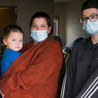 Brandie Baker with her two children, Casper, 2, and Taylor, 20, are among 34 residents of the Ambassador Motel that are required to leave due to city inspectors deeming the motel unsafe. Baker and her children have found temporary housing. Photo by Eric Hylden/Grand Forks Herald